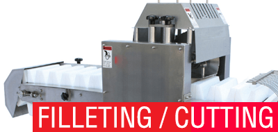 Filleting cutting machines
